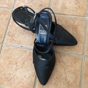 Mondi Black Satin Shoes Dress Formal Shoes Size 37